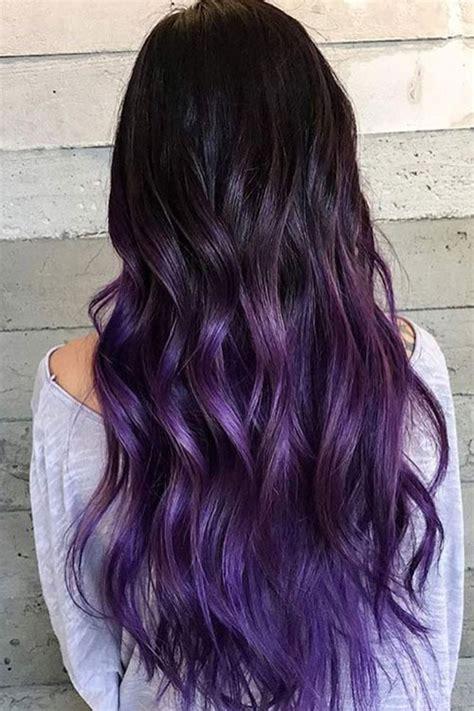 shag haircut brown hair with lavender grey streaks best ombre hair 41 vibrant ombre hair color ideas love