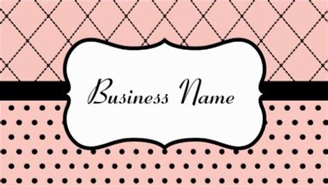 red polka dot business cards templates zazzle monogram