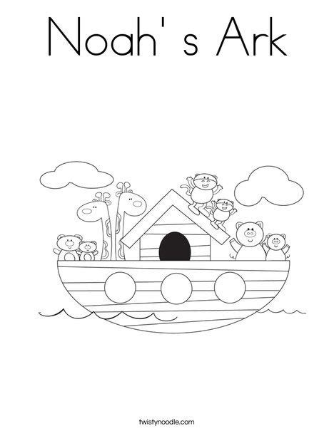 noah  ark coloring page twisty noodle  site lets