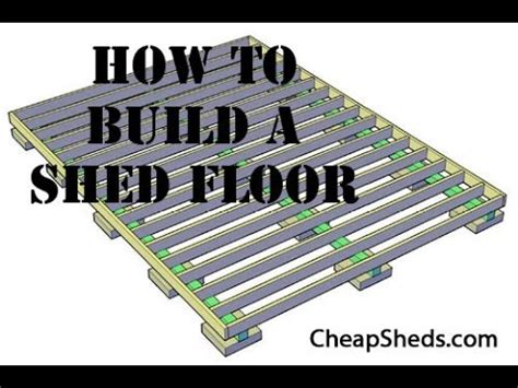 build  wooden storage shed floor video youtube