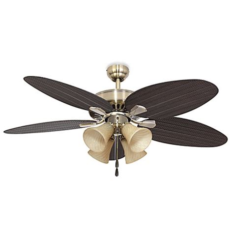 bed bath and beyond ceiling fans 52 inch coconut grove 4 light aged brass ceiling fan bed