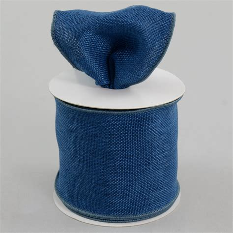 Denim Ribbon 4 quot faux burlap ribbon denim blue 10 yards rdjb4 13