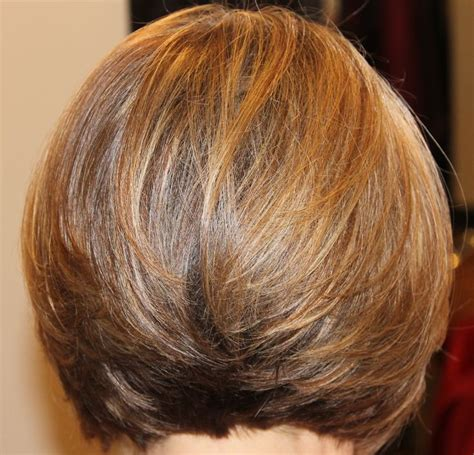 layered bob hairstyle back view back view short classic layered bob hairstyles