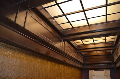 Backlit Ceiling by Lobby Bar And Storefront Millwork Jade Hotel Nyc