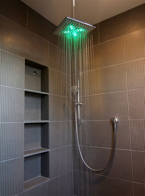 bathroom shower lights sv master bathroom shower contemporary bathroom