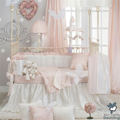 elegant crib bedding baby girl elegant pink princess luxury boutique crib