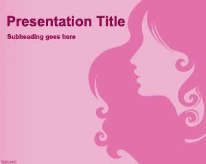 powerpoint design hair feminine powerpoint template