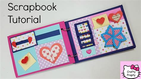 How To Make A Paper Scrapbook - scrapbook tutorial how to make scrapbook diy scrapbook
