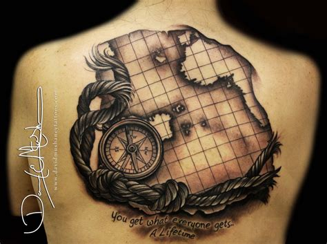 tattoo compass world map beautiful world map tattoo done by david mushaney artist