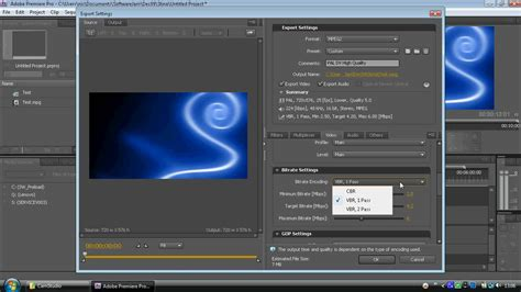 Export Adobe Premiere To Encore | adobe encore step 1a exporting for encore avi youtube