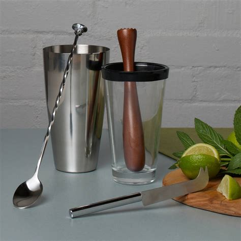cocktail set four piece mojito cocktail set by whisk hers