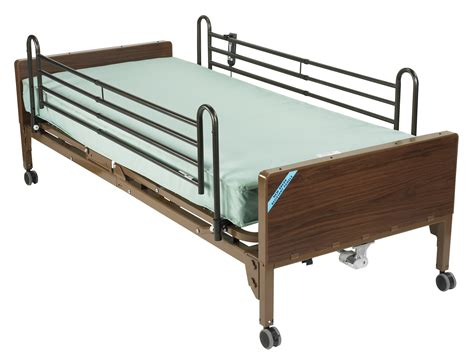Mattresses For Hospital Beds by Semi Electric Bed With Rails And Innerspring Mattress