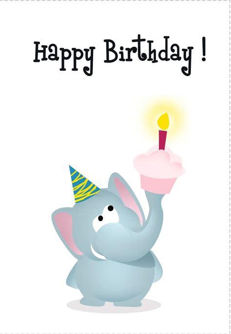 Free Printable Elephant Birthday Cards birthday card free elephant printable birthday cards