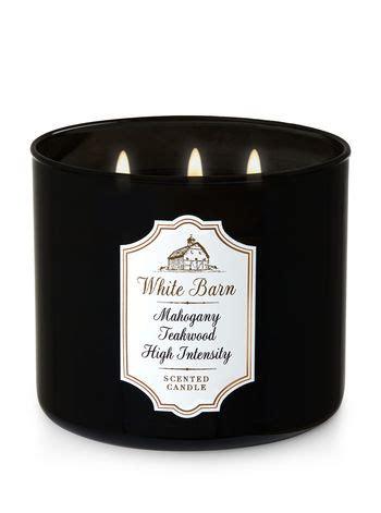 White Barn Candle Mahogany Teakwood Uk by Mahogany Teakwood High Intensity 3 Wick Candle White