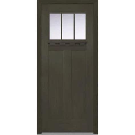 Craftsman Door Dentil Shelf by Milliken Millwork 36 In X 80 In Classic Clear Glass 3