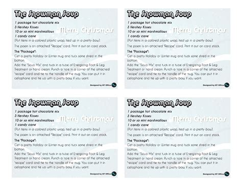printable soup recipes search results for editable snowman soup tags calendar