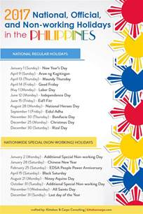 non working 2017 official non working holidays in the philippines