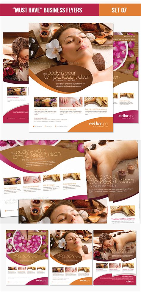 beauty spa flyer template psd by eamejia on deviantart