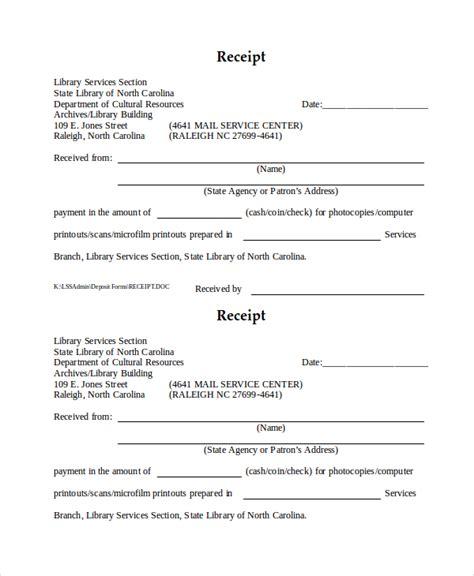 sample official receipt template documet pdf download
