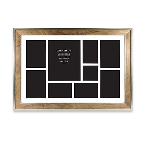 college photo frame 9 photo collage picture frame in walnut bed bath beyond