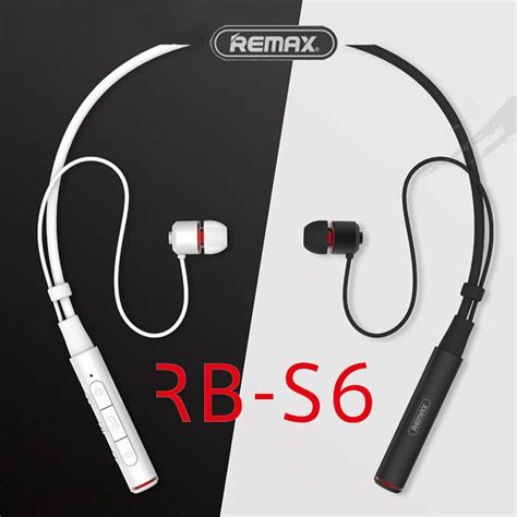 Headset Bluetooth Remax remax sports neckband bluetooth headset rb s6 wireless