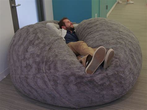 big fluffy bean bag the is losing its mind this fluffy