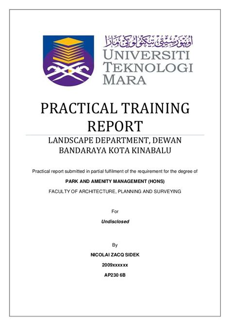 format assignment ctu practical training report