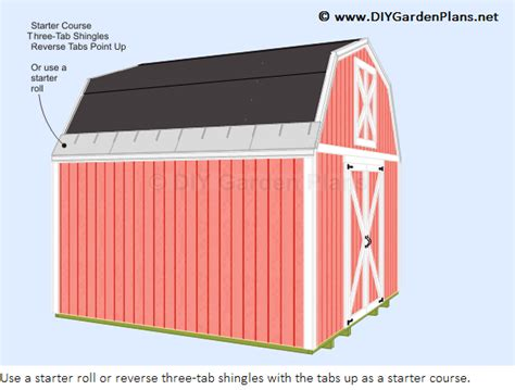 Shingling A Shed Roof by How To Install The Gambrel Shed Roof Shingles