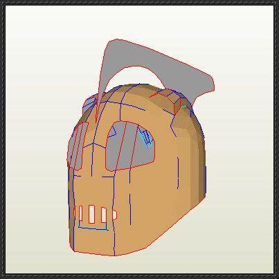 Papercraft Helmet Template - rocketeer helmet papercraft free template
