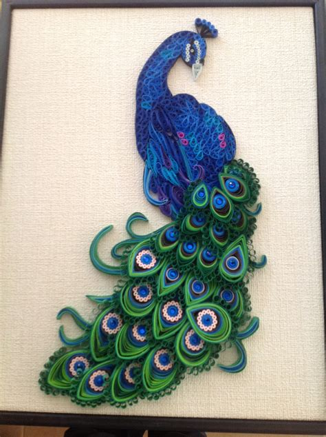 How To Make Paper Quilling Peacock - paper quilling peacock search painting