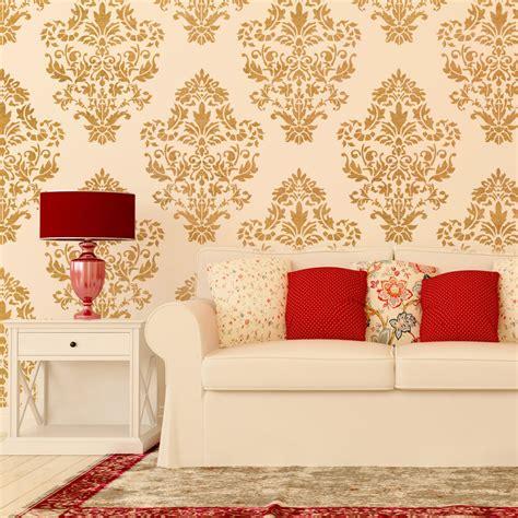 damask wall stencil pattern ludovica  diy home decor