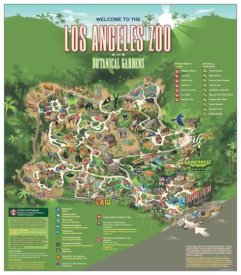 map of los angeles zoo los angeles zoo and botanical gardens about zoos