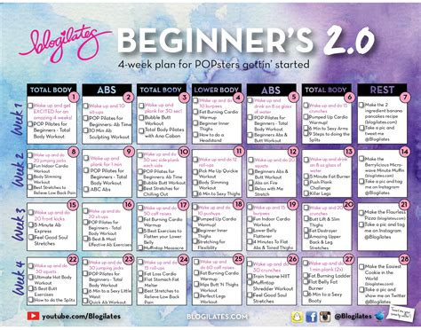 Day 0 Calendar 30 Day Printable Workout Schedule January 2016 Calendar