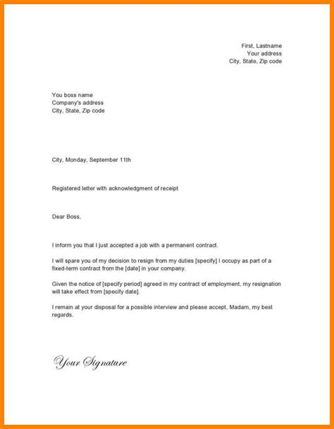 Best Resignation Letter Word Format 11 Simple Resignation Letter Format In Word Hvac Resumed