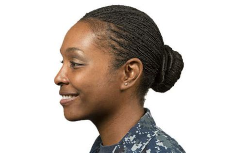 female military hairstyles for long hair navy issues new hairstyle policies for female sailors