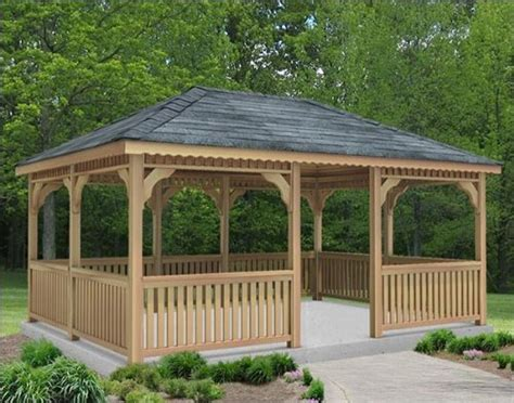 8 X 10 Patio Gazebo 10 X 10 Cedar Rectangular Gazebo Gazebos Patio And