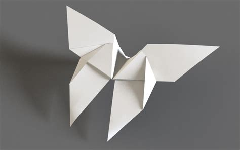 Flapping Butterfly Origami - origami butterfly flapping flying animation 3d model