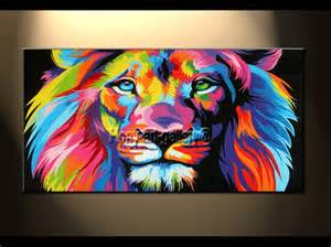 lion wall art home: art on canvas wall decoration home wall art picturecolor lion