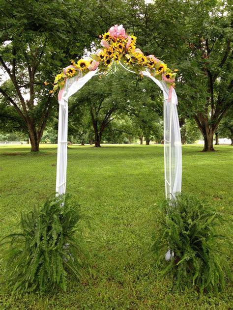Wedding Arch With Sunflowers by Sunflower Gingham Wedding Arch Wedding