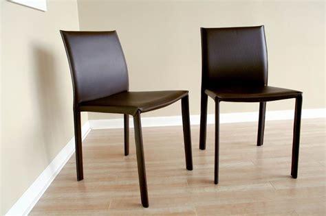 Baxton Studio Brown Burridge Leather Dining Chair Alc 1822 Baxton Studio Dining Chair