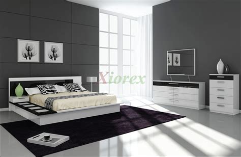 Draco Black And White Contemporary Bedroom Furniture Sets Black And White Bedroom Furniture Sets