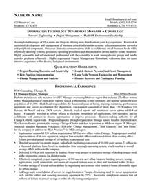 Resume Exle It by It Consultant Resume Exle