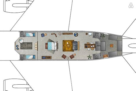 airplane floor plan spend a night in the klm airplane apartment mariska