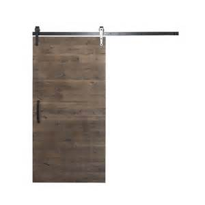 Barn Door Hardware Home Depot Rustica Hardware 42 In X 84 In Rustica Reclaimed Home Depot Gray Wood Barn Door With Arrow