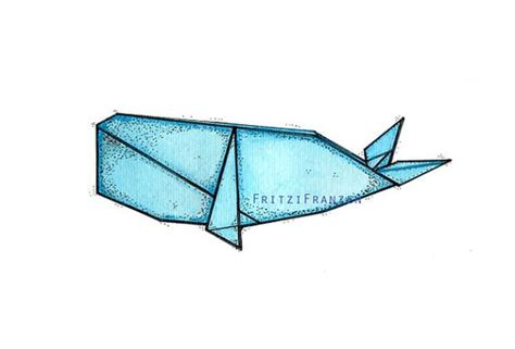 Whale Origami - whales origami and whale tattoos on