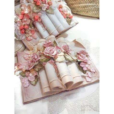 shabby chic rose gold floral book decoration home accessories by molly browns