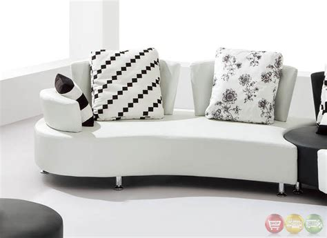 Scorpio Ultra Modern Sectional Sofa Set With Sinious Ultra Modern Sofa