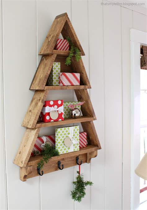 christmas woodworking ideas white tree wall shelf diy projects