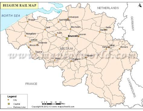 rail map belgium buy belgium rail map