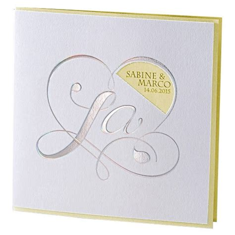 Einladungskarten Hochzeit Gelb by Hochzeitseinladung Quot Kara Quot In Wei 223 Gelb Weddix De